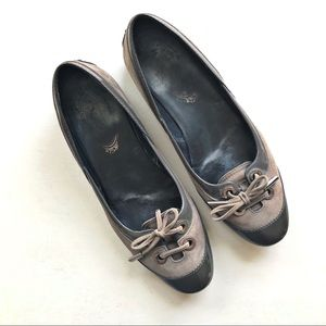 Tod's Lace Toe Driving Ballet Flats - Gray Suede
